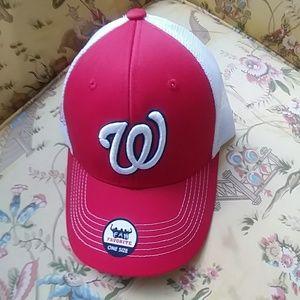 Washington Nationals Adult Red/White Baseball Cap